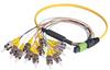 MPO Male to 12x ST Fan-out, 12 Fiber Ribbon, 9/125 Singlemode, OFNR Jacket, Yellow, 10.0m -- MPM12S-ST-10 - Image