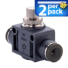 FLOW VALVE 2/PK FOR 1/4in OD PNEU TUBING IN-LINE -- FVU14