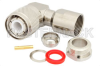 HN Male Right Angle Connector Clamp/Solder Attachment for RG213, RG8, RG393, RG225, RG214, RG393, RG9 -- PE4230 -Image