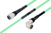 Temperature Conditioned N Male to N Male Right Angle Low Loss Cable 100 cm Length Using PE-P300LL Coax -- PE3M0249-100CM -Image