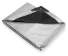 Tarp,Polyethylene,Silver/Black,16x20Ft -- 4VZ57