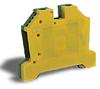 Grounding Terminal Block: 20-6 AWG, green/yellow, 50/pk -- DN-G6