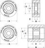 Roller -- Bearing Mount: Solid Precision Bearing