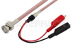 BNC Male to Alligator Clip Cable 12 Inch Length Using RG142 Coax -- PE3571-12 -Image