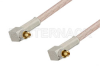 MC-Card Plug Right Angle to MC-Card Plug Right Angle Cable 12 Inch Length Using RG316 Coax, RoHS -- PE36130LF-12 -Image