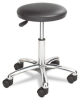 Safco Height Adjustable Lab Stool, 13-1/2 dia. x 21h, Black -- SAF3434BL
