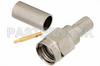 SMA Male Connector Crimp/Solder Attachment for RG58, RG303, RG141, PE-C195, PE-P195, LMR-195, 0.195 inch -- PE4215 -Image