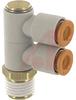 Fitting, 6 mm; White (Body), Light Gray(Release Button); -5 degC; 60 degC; PV -- 70070904