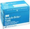 3M Scotch-Brite 07448 Non-Woven Silicon Carbide Hand Pad - Ultra Fine Grade - 6 in Width x 9 in Length -- 051131-07448 - Image