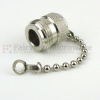 N Female Open Circuit Connector Cap with 2.5 Inch Chain -- SC2018C -- View Larger Image