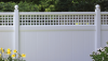 Vinyl Fence - Privacy -- Chesterfield with Westminster Accent