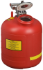 Justrite Red HDPE 5 gal Safety Can - 20 in Height - 12 in Overall Diameter - 697841-14269 -- 697841-14269