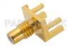 SMC Jack Connector Solder Attachment 0.062 inch End Launch PCB, .020 inch x .010 inch Contact -- PE44136 -- View Larger Image