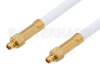 MMCX Plug to MMCX Plug Cable 12 Inch Length Using RG188 Coax, RoHS -- PE34885LF-12 -Image