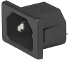 IEC Appliance Inlet C14/C18, Snap-in Mounting, Front Side, Solder or Quick-connect or Screw-on Terminal -- 1061 -Image
