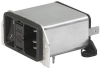 IEC Appliance Inlet C14 with Filter, Fuseholder 1- or 2-pole, Line Switch 2-pole, for PCB Mounting -- DD22 -Image