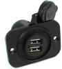 Blue Sea Systems 1016 Dual USB Socket -- 78035 -Image