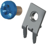 Slim-Line PC Screw Terminal, 60°- Unassembled w/ Blue screw -- 8184-5 -Image