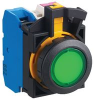 ILLUMINATED PUSHBUTTON SWITCH, DPDT-NC, 6A, 240VAC, PLUG-IN -- 59T4341 - Image