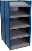 B-to-back closed shelving, sloped shelves (standalone/series possible) -- SRD2T-EE751001B - Image