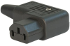 IEC Connector C13, Rewireable, Angled