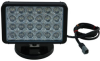 Magnetic Mount LED Light Emitter - 24, 3-Watt LEDs - 200lb. Grip Magnet - 900'L X 100'W Spot Beam -- LEDLB-24-M