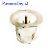 Flanged Male Inlet White 15A 125V 2P -- 78358517350-1 - Image