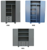 GARMENT STORAGE CABINET WITH DRAWERS -- HMK248