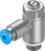 One-way flow control valve -- GRLZ-1/8-QS-3-D -- View Larger Image