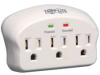 Surge,Direct Plug In,3 Outlet,LEDs -- 15D977