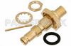 1.0/2.3 Jack Bulkhead Connector Solder Attachment For PE-SR402AL, PE-SR402FL, RG402, .235 inch D Hole -- PE44255 - Image