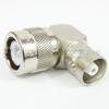 RA C Male (Plug) to C Female (Jack) Adapter, Nickel Plated Brass Body, 1.25 VSWR -- SM3694