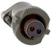 connector,metal circular,str plug w/strain relief,size 10sl,2#16 solder socket -- 70143548