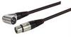 XLR Pro Audio Cable Assembly, XLR Male Right Angle - XLR Female. 1.0 ft -- CAXLR2XLRR-1 -Image