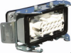 10 Pole with Ground Industrial Rectangular Connector Pre-Assembled Unit with Bulkhead Mount Housing -- 403020 - Image