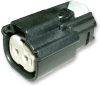 Molex 19418-0008 MX150L 2-Pin Connector Housing, 22-18 AWG -- 38301 - Image