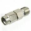 SMA Female (Jack) to SSMA Male (Plug) Adapter, Nickel Plated Brass Body, High Temp, 1.4 VSWR -- SM4892 - Image