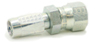 BU Series Field Attachable Hydraulic Hose Fitting Female JIC 37D Swivel -- 206BU-3-2 - Image