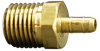Fisnar 560704 Brass Straight Barbed Fitting 0.25 in NPT Male x 0.125 in I.D. Tube -- 560704 -Image