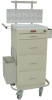 Four Drawer Mini Line Phlebotomy Cart Package with Turn.. -- 3254LPB