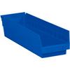 "17 7/8"" x 4 1/8"" x 4"" Blue - Plastic Shelf Bin Boxes -- BINPS111B -- View Larger Image"