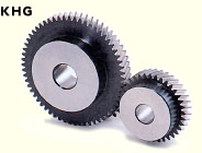 Helical gears with plain, simple bore