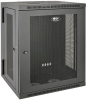 SmartRack 15U Low-Profile Switch-Depth Wall-Mount Rack Enclosure Cabinet, Hinged Back -- SRW15US -- View Larger Image