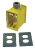 Portable Outlet Box,Yellow,Duplex -- 1DJL3