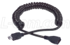 USB Coil Cable- Mini B 5 Position Male/Female .5m to 2.0m -- COILMB5EXT-2M