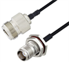 N Female to TNC Female Bulkhead Cable Assembly using LC085TBJ Coax, 1 FT -- LCCA30653-FT1 -Image