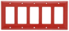Standard Wall Plate -- SP265-RED - Image