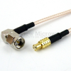 RA SMA Male to MCX Plug Cable RG-316 Coax in 24 Inch -- FMC0407315-24 -Image