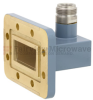 WR-137 to Type N Female Waveguide to Coax Adapter CPR-137G Grooved with 5.85 GHz to 8.2 GHz C Band in Copper, Paint -- FMWCA1017 - Image