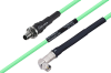 Temperature Conditioned SMA Female Bulkhead to SMA Male Right Angle Low Loss Cable 48 Inch Length Using PE-P142LL Coax -- PE3M0145-48 -- View Larger Image